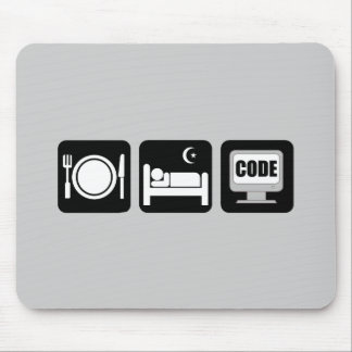eat sleep code mousepads