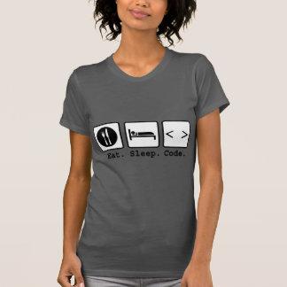 eat sleep code Nerd Wear T-Shirt