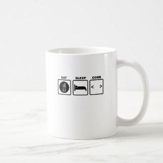 eat sleep code Nerd Wear T-Shirts.png Coffee Mug