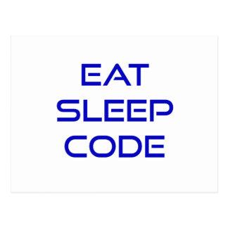 Eat Sleep Code Postcard