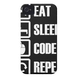 -eat-sleep-code-repeat iPhone 4 cover