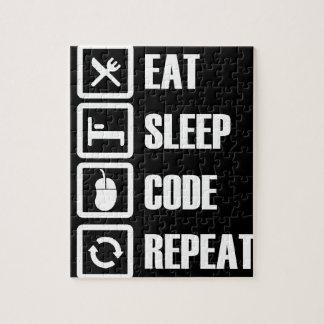 -eat-sleep-code-repeat jigsaw puzzle