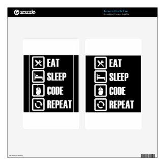 -eat-sleep-code-repeat kindle fire decal