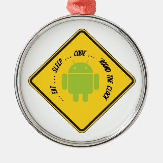 Eat ... Sleep ... Code ... 'Round The Clock Christmas Tree Ornament