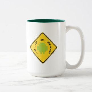 Eat ... Sleep ... Code ... 'Round The Clock Two-Tone Coffee Mug