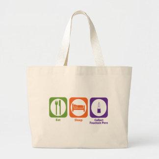 Eat Sleep Collect Fountain Pens Jumbo Tote Bag