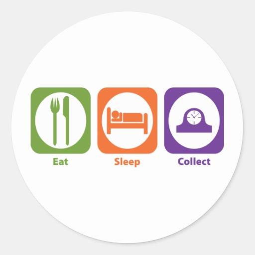 Eat Sleep Collect Sticker