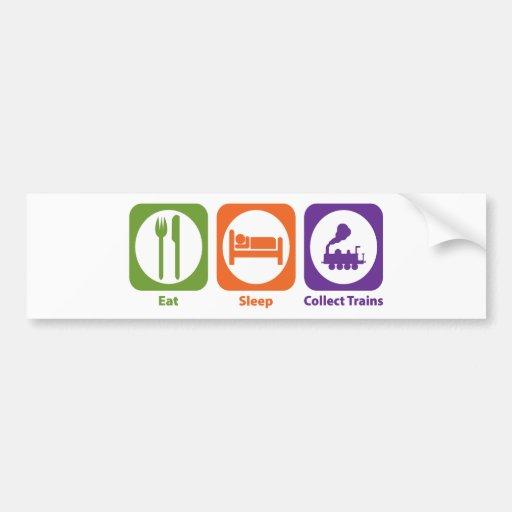 Eat Sleep Collect Trains Bumper Sticker