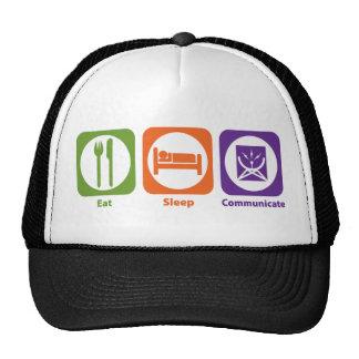 Eat Sleep Communicate Mesh Hats