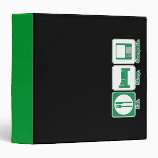 Eat Sleep Compute Notebook Binder