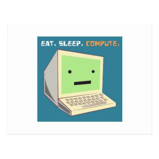 Eat Sleep Compute Postcard