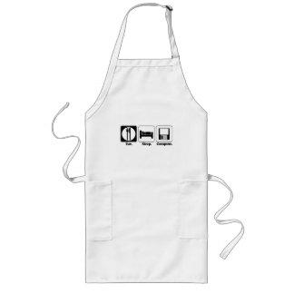 eat sleep computer apron