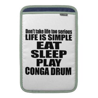 EAT SLEEP CONGA DRUM MacBook AIR SLEEVE