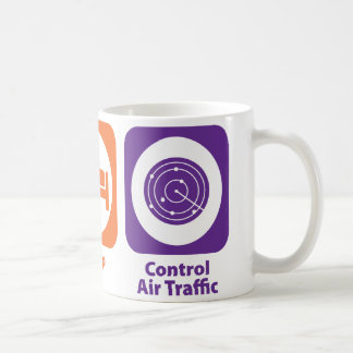 Eat Sleep Control Air Traffic Coffee Mug