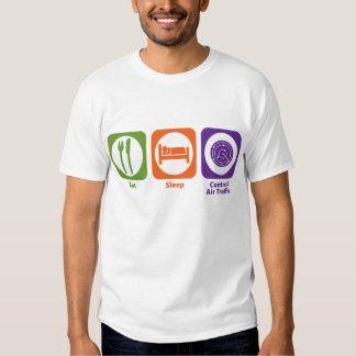 Eat Sleep Control Air Traffic Tee Shirts