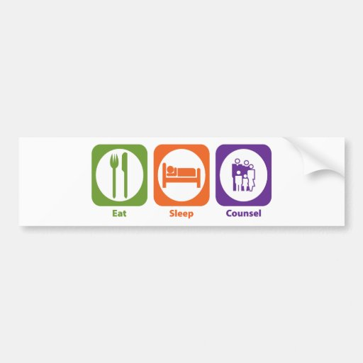 Eat Sleep Counsel Car Bumper Sticker