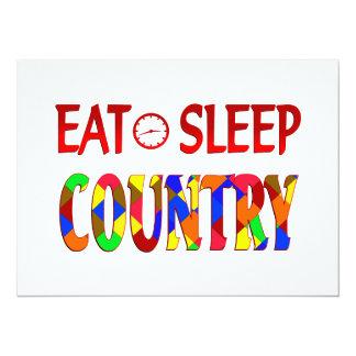 Eat Sleep Country Custom Invite