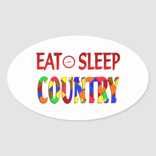 Eat Sleep Country Stickers