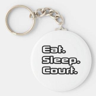 Eat. Sleep. Court. Basic Round Button Keychain