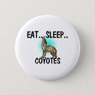 Eat Sleep COYOTES Button
