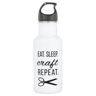 Eat. Sleep. Craft. Repeat.   Water Bottle 18oz Water Bottle