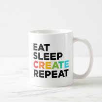 Eat Sleep Create Repeat Coffee Mug