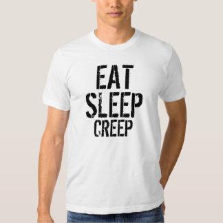 Eat-Sleep-Creep Slim Fit T Shirts