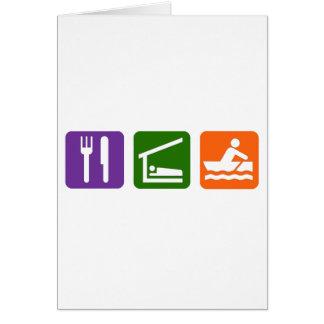 Eat Sleep Crewing Card