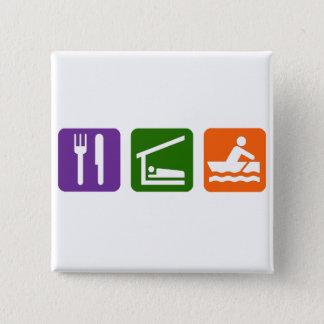 Eat Sleep Crewing Pinback Button