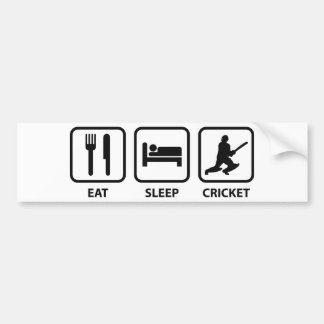 Eat Sleep Cricket Bumper Sticker
