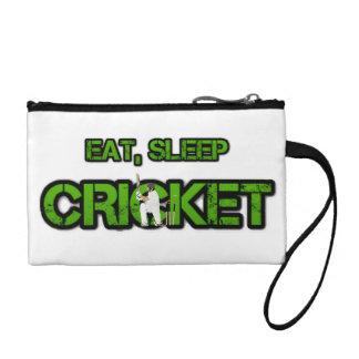 Eat Sleep Cricket Coin Purse