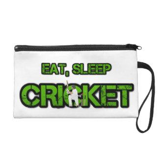 Eat Sleep Cricket Wristlet Purse