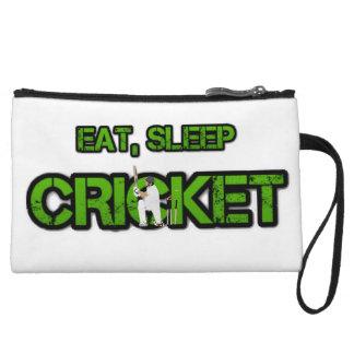 Eat Sleep Cricket Wristlet Wallet