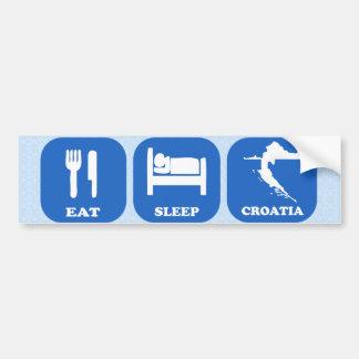 Eat Sleep Croatia Bumper Sticker