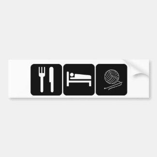 Eat, Sleep, Crochet Bumper Sticker