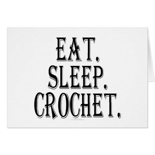 Eat. Sleep. Crochet. Card