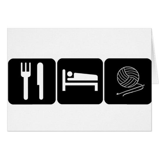 Eat, Sleep, Crochet Card