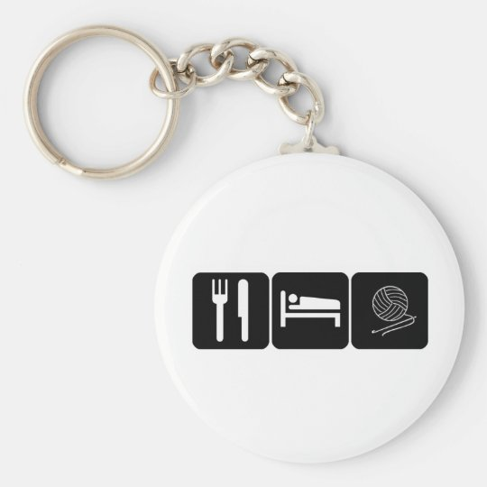 Eat, Sleep, Crochet Keychain