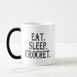 Eat. Sleep. Crochet. (mug) Magic Mug
