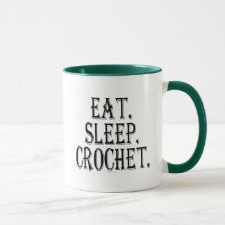 Eat. Sleep. Crochet. (mug) Mug