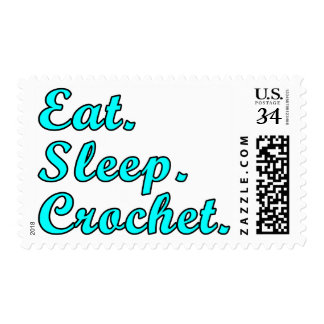 Eat. Sleep. Crochet. Postage