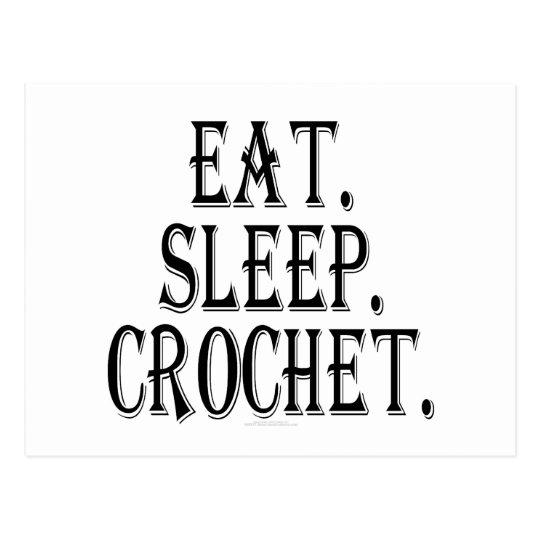 Eat. Sleep. Crochet. Postcard