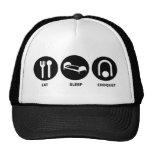 Eat Sleep Croquet Mesh Hats