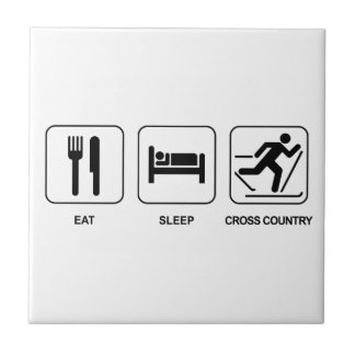 Eat Sleep Cross Country Ceramic Tiles
