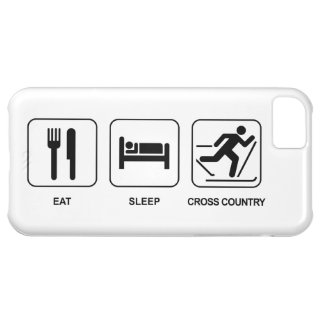 Eat Sleep Cross Country Cover For iPhone 5C