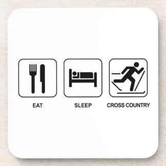 Eat Sleep Cross Country Drink Coaster