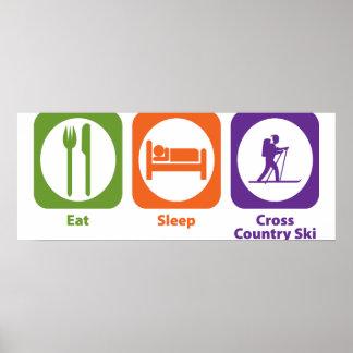Eat Sleep Cross Country Ski Poster