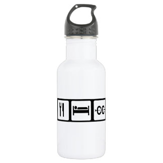 Eat, Sleep, Cross Country Stainless Steel Water Bottle