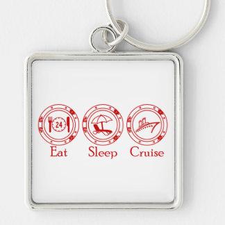 Eat Sleep Cruise Keychain