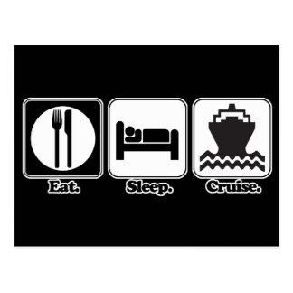 eat sleep cruise postcard